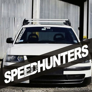 Universal SPEEDHUNTERS Front Windshield Side Decal Vinyl Car - Front window stickers for car