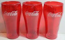 Glasses Lot Of 4 New Genuine Coca-Cola Jade Plastic Tumblers 20 oz