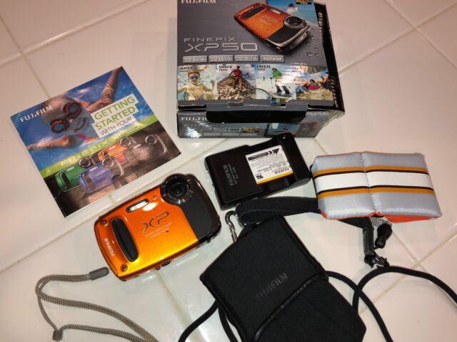Fujifilm FinePix X Series XP50 14.4MP Digital Cam-Orange NEVER USED