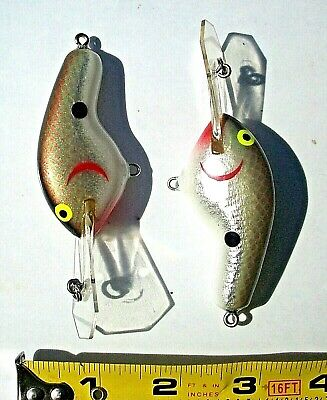 "1 Gray Chrome Shad 4/"" Coffin Bill Crankbait Balsa Wood Bass Fishing Baits Lures"
