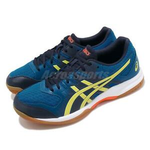 paras laatu laadukkaita tuotteita superlaatu Details about Asics Gel-Rocket 9 Blue Yellow Gum Men Volleyball Badminton  Shoes 1071A030-400