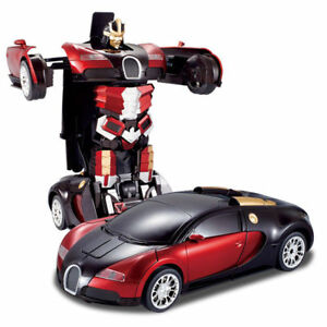 Transformer Deformation Red Robot Car Toys Rechargeable 2 4 G Rc