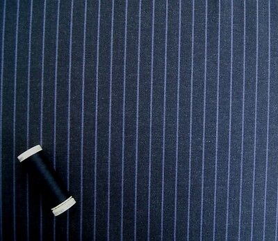 Super 130s Wool Charcoal Pinstripe Suiting 533C 3.5m £123 Without VAT