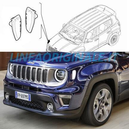 Frecce laterali Bianche Originali Jeep Renegade Catadriotti Luci ricambio nuovo