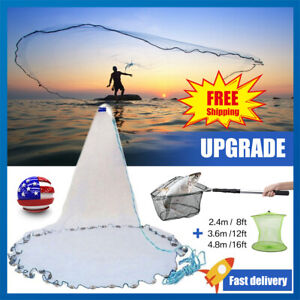 Saltwater-Bait-Fishing-Cast-Net-Mesh-Telescopic-Folding-Extending-Landing-Net