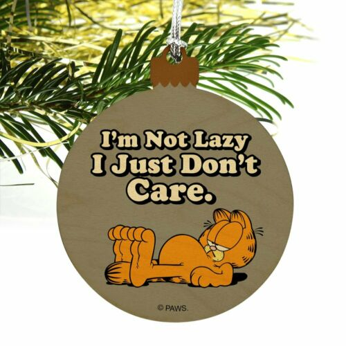 Garfield I M Not Lazy Wood Christmas Tree Holiday Ornament Ornaments Home Garden