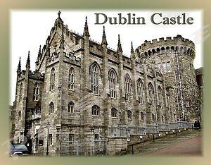 IRELAND - DUBLIN CASTLE - Travel Souvenir Flexible Fridge Magnet