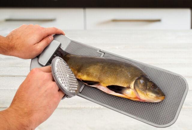 Schneidebrett Klappbar.Filetierbrett Fischbrett Schneidebrett Klappbar Komplett Mit Fischschupper Fisch