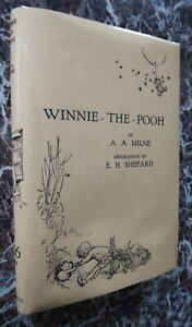 Winnie-the-Pooh-1933-A-A-Milne-Stated-12th-Edition-First-Form-w-Facsimile-DJ