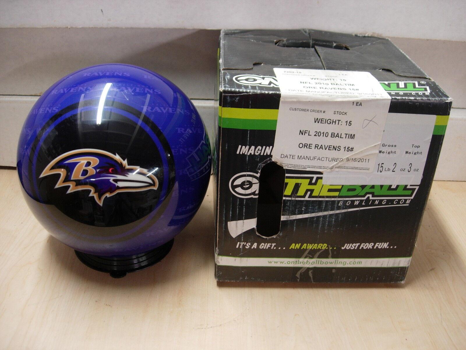 = 15NOS NIB Bowling Ball OTB Viz-A-Ball 2010 NFL Baltimore RAVENS