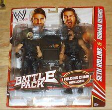 2013 WWE WWF Mattel Shield Seth Rollins Roman Reigns Wrestling Figures MOC