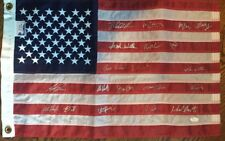 1980 Olympic GOLD MIRACLE USA  Hockey Full team signed American Flag 20 auto JSA