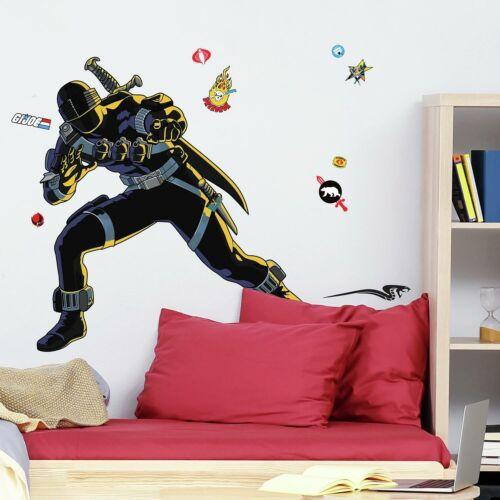 G I JOE RETRO SNAKE EYES Peel /& Stick Giant Wall Decals Kids Room Decor Stickers