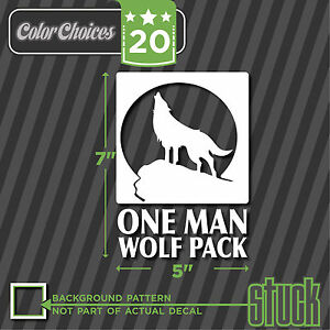 One Man Wolf Pack Vinyl Decal Die Cut The Hangover Zach