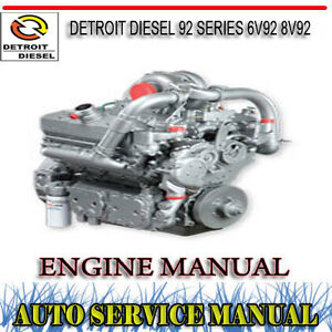 Details about DETROIT DIESEL 92 SERIES 6V92 8V92 ENGINE SERVICE REPAIR  MANUAL ~ DVD