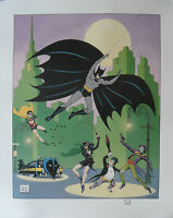 BOB KANE Signed 26x22 Ltd Edition Lithograph Print BATMAN The Golden Years COA