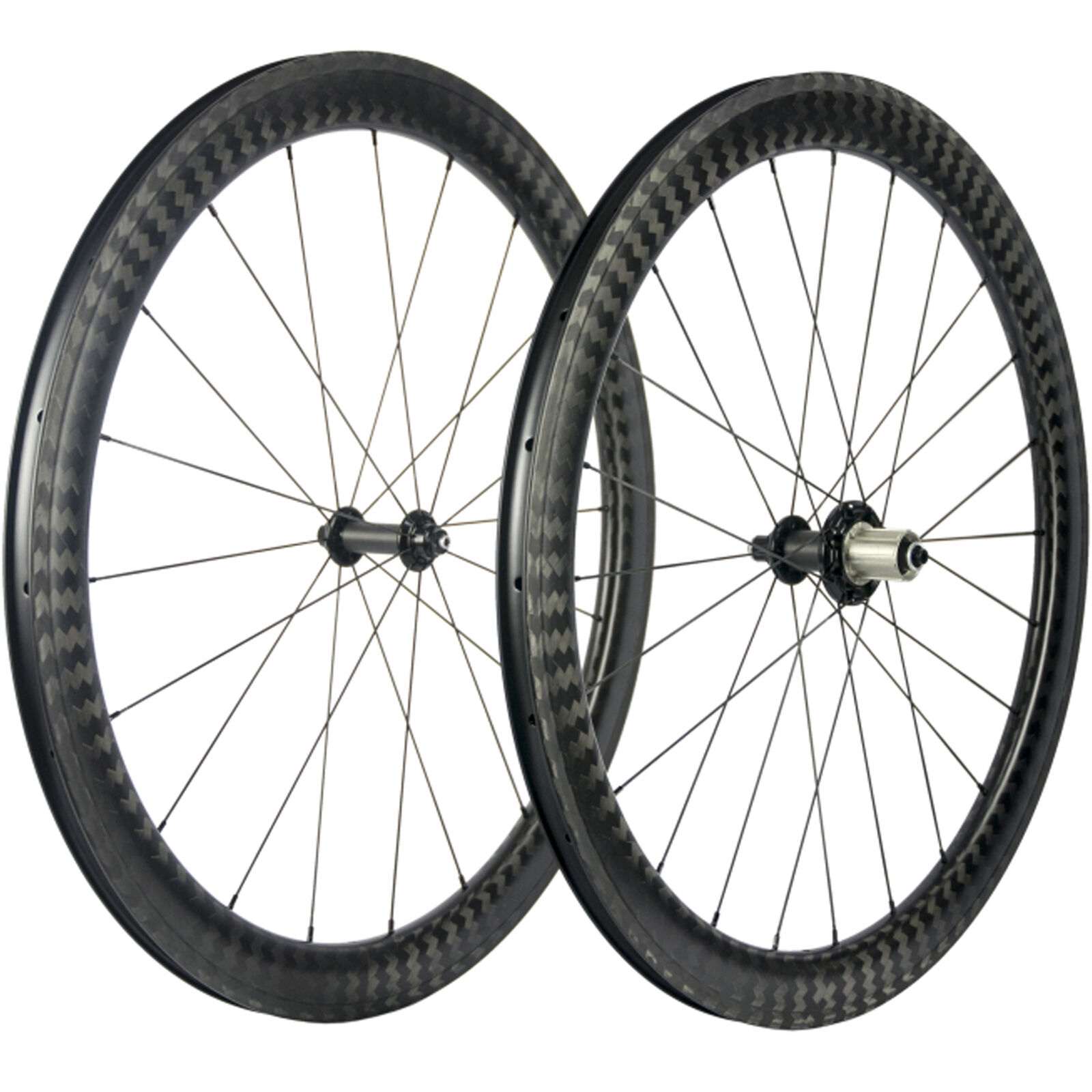 12K Twill Carbon Wheelset 25mm  Width Clincher Carbon Wheels 50mm Road Bike Wheel  cheapest price