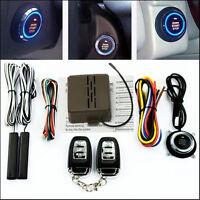 Car Suv Alarm System Keyless Entry Ignition Engine Start Push Button Remote Kit