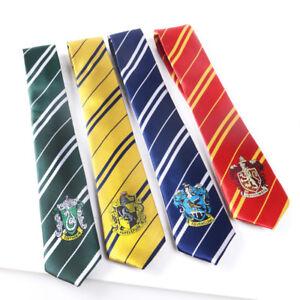 Cravatta-Tie-Harry-Potter-Grifondoro-Serpeverde-Tassorosso-Corvonero-Cosplay