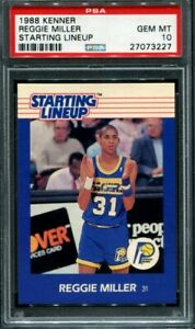 1988 Kenner Starting Lineup Reggie Miller Rookie RC pop 3 PSA 10
