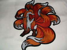 "Fox Patch Embroidered Iron On Applique 3.25/"" X 3.15/"" Forrest Woodland Animal"