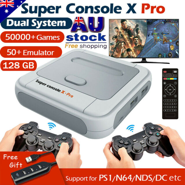 Super Console X PRO 4K WiFi HDMI TV Box Video Game Console For PS1/N64/DC/NDS AU
