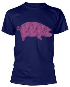 Pink-Floyd-039-Animals-Pig-039-Navy-T-Shirt-NEW-amp-OFFICIAL
