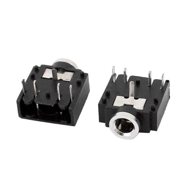 Wholosale 10x DIP xB Mount 5 Pins 3.5mm Socket Headphone Stereo Audio Jack