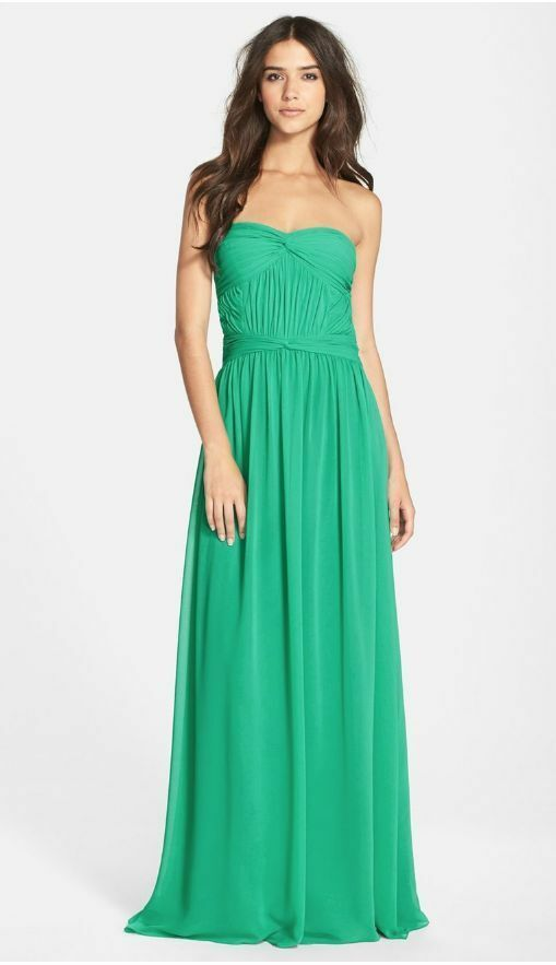 Hailey by Adrianna Papell Strapless Ruched Top Gown (size 8)