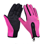 thumbnail 15 - Leather Cycling Gloves Windstopper Soft Warm Winter Motorcycle Biking Gloves New