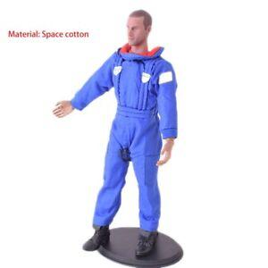 1-6-blauer-Jumpsuit-Overall-Raum-Baumwolle-Spielzeug-Motorradkleidung-Fit-12-034-Figur