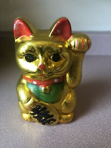 Gold Kitty Puggy Bank