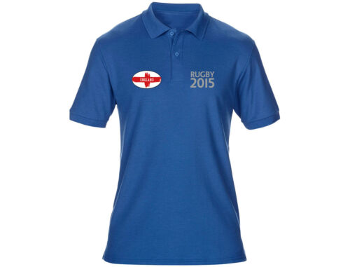 6 Colours Embroidered England Mens Rugby Polo Shirts