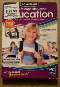 Encore Advantage Education Pre-K through 8th Grade w// Bonus Software Included
