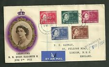 1953 Cover Coronation H.M. Queen Elizabeth Ii The Philatelic Traders Society