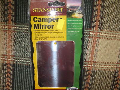 2 NEW STANSPORT CAMPERS MIRRORS/CAMPING/HUNTING/FISHING