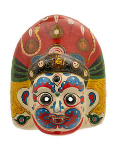 Maschera Nepalese Mahakali Kali Dance Indra Jatra Nepal Carta Mache Mask 7300