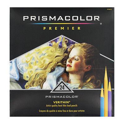 24 Prismacolor Verithin Colored Art Pencils Asstd Color