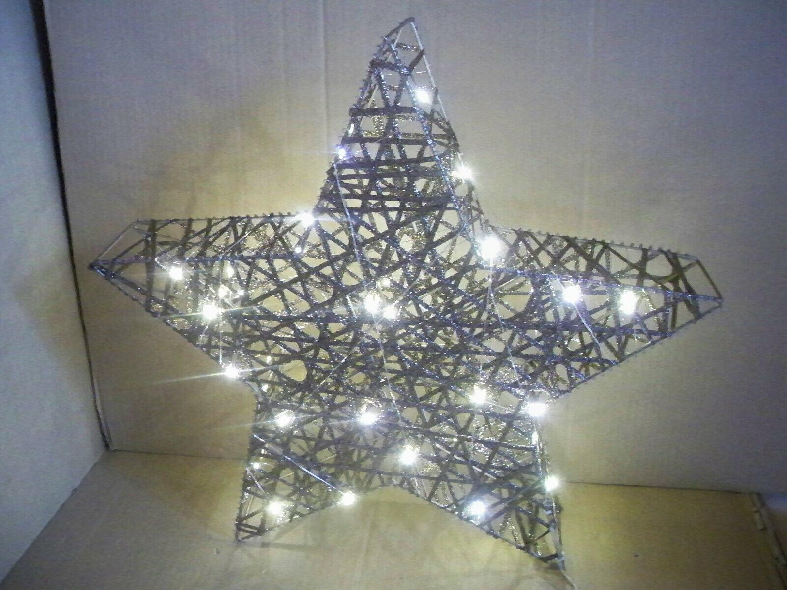 LED-Deko-Objekt Glamour Gold  Stars, beleuchtet B