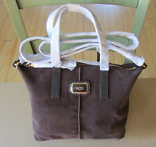 UGG Bag Ellie Crossbody Satchel Coffee Bean Suede NEW
