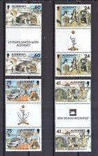 Alderney 1996 postfrisch Stegpaar MiNr. 90-93 Fernmelderegiment