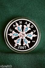 2007 Canada $20 Blue Crystal Snowflake w all org pkg - mint condition
