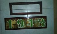 Wood Frames Ceramic Tile Address House Door Numbers Markers Hotel Sign Plaque