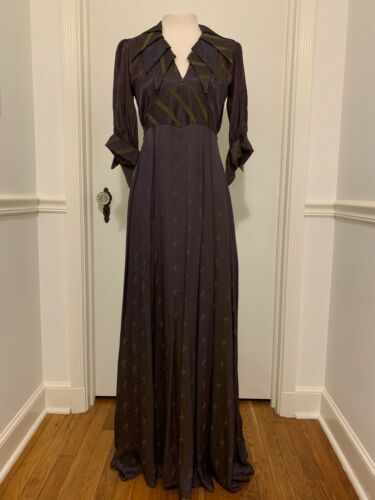 Vintage OSSIE CLARK for QUORUM Couture Moss Crepe