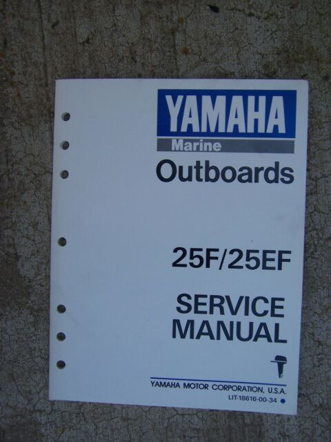 1988 Yamaha Outboard Motor 25f 25ef Service Manual More