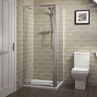 Shower Enclosure Walk In Corner Cubicle Toughened Glass Door Pivot Hinge & Panel
