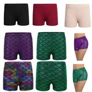 Девочки русалка Горячие штаны короткие шорты рыбы масштаб мальчик-вырезать низ танец одежда для активного отдыха