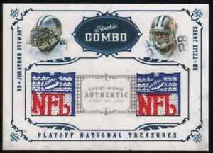 2008-Jonathan-Stewart-Felix-Jones-National-Treasures-NFL-Logo-Patch-1-3-RC