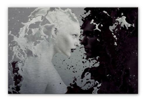 Alu-Dibond Silbereffekt Bild Milk /& Coffee schwarz//weiß WANDBILD metallic 3mm