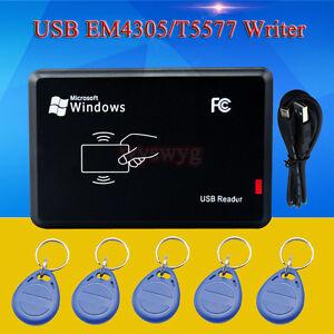 Details about USB 125KHz RFID EM4305 T5577 Card Reader/Writer Copier  Programmer 5x R/W Keyfob